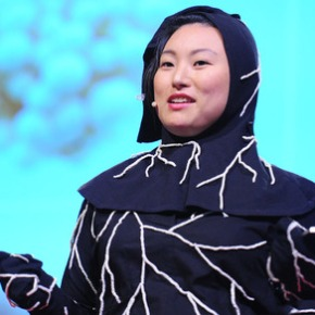 "A Ted Talk by artist Jae Rhim Lee:  ""My Mushroom Burial Suit"""